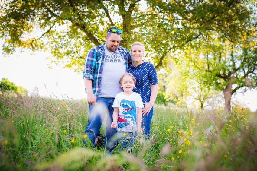 Familienfoto Frühling