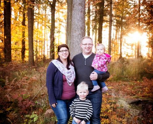 Familienfoto bei Sonnenuntergang Schopfheim Karsau