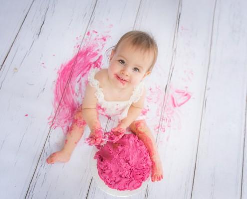Geburtstagsfotos Kind Tortenschlacht